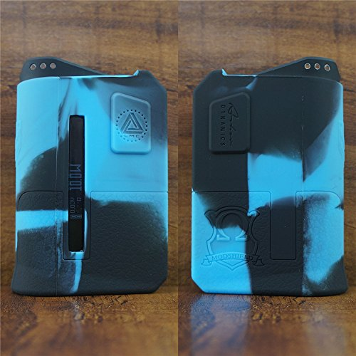 ModShield for Limitless Arms Race 200W TC Silicone Case ByJojo Skin Cover Sleeve Wrap Shield (Blue/Black)