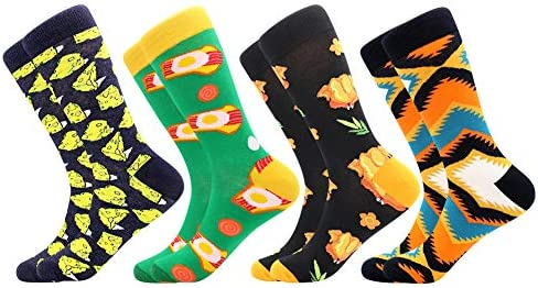 Men s Fun Dress Socks Patterned Crew Colorful Funky Fancy Novelty Funny Casual Socks for Men product image