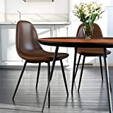 DHP Casi Upholstered Dining Chair, Camel Faux Leather