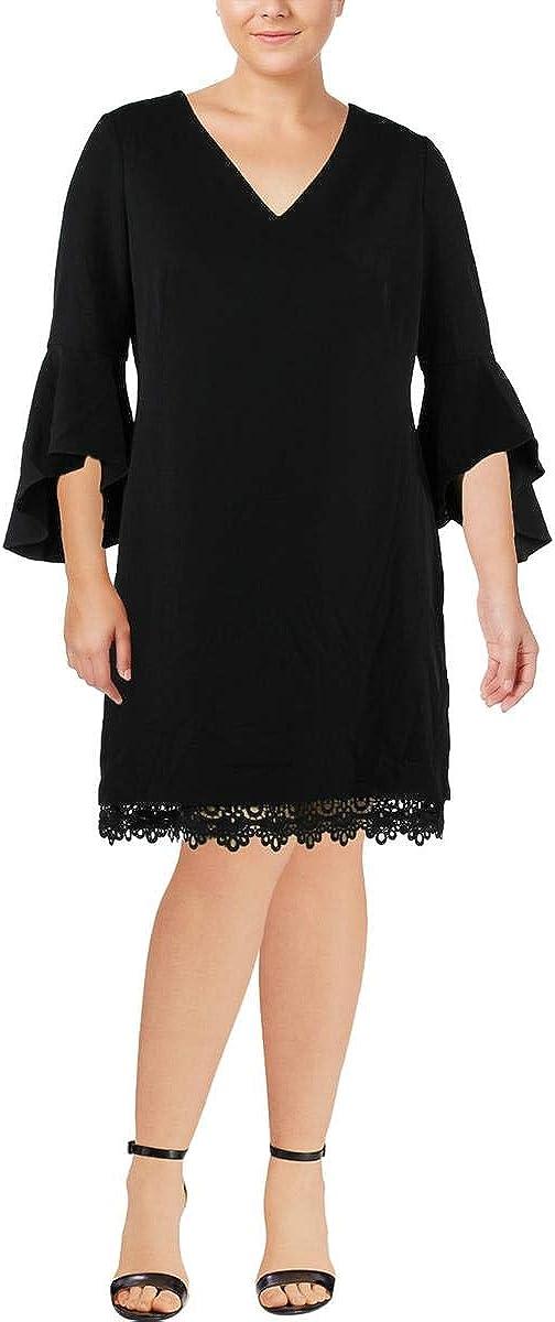 Lauren by Ralph Lauren Women's Crepe Bell-Sleeve Dress