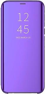 Beryerbi Cover compatibile con Galaxy S9 Plus,Ultra Sottile Flip PC+TPU Mirror con Funzione Kickstand Magnetica Custodia p...