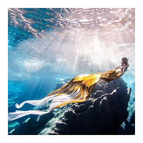 Lml Coda da Sirena per Nuotare Costumi da Bagno 3pcs Mermaid Insiemi del Bikini Cosplay Costume da Sirena Bambina Regalo per Donna(Color:Stile H.)