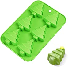 """M-ELEGANT 6 Christmas Tree Silicone Cake Baking Mold Cake Pan Handmade Soap Moulds Biscuit Chocolate Ice Cube Tray DIY Mold 10"""""""