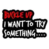 OwnTheAvenue Buckle Up I Wanna Try Something Funny Off Road JDM Racing Drifting Decal Sticker 6' #DigiPrint