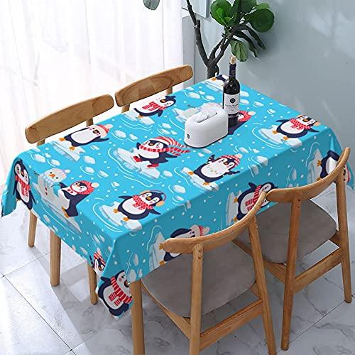 XIANGYANG - Mantel Rectangular con diseño de pingüinos para bebé, 54 x 72, Impermeable, Lavable, Reutilizable, para Mesa, para Comedor, Cocina, Picnic, decoración del hogar