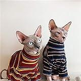 HCYD Ropa de esfinge, Ropa de Gato sin Pelo, artículos para Mascotas, Gatitos, Azul, L