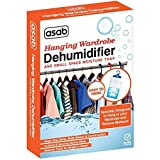 Wardrobe Dehumidifier Hanging Bags | Mini Moisture Absorber | Damp Trap Sachets | Humidity Catcher with Anti Mould Crystals | Closet Small Wet Remover - 10 Pack