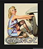 Vintage Pin Up Garage Metal Sign, Pin Up Sign, Vintage Sign Aluminum Plaques Signs Tin Plaques Wall ...