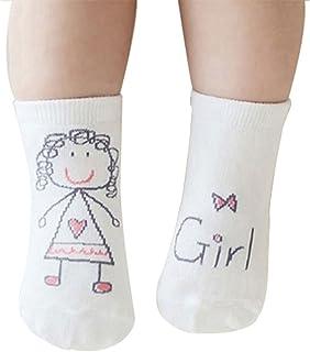 Gespout Calcetines Niñas Niños Bebés Algodón Calcetines Térmicos Párrafo Corto para Chica Otoño Cómodo Infancia Antideslizantes Cálido Invierno para Socks Lindo Regalo de Cumpleaños 1pair