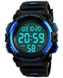 Kids Watches for Boys Ages 4-12, Kids Blue Digital Sports Waterproof Outdoor Analog Electronic Watches with Alarm Stopwatch, Children Birthday Presents Gifts Toys for Age 4-12 Year Old Boys Girls