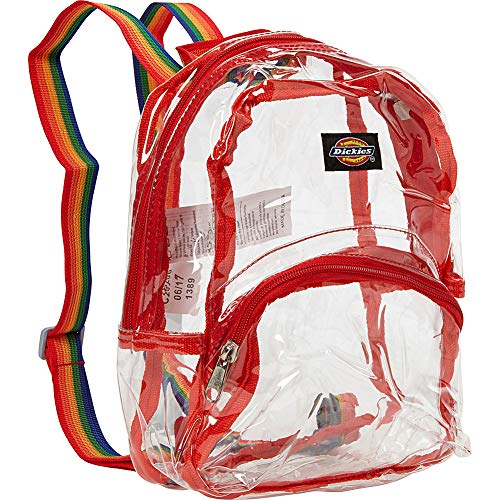 Dickies Mini Mini Festival Backpack (Clear PVC with Rainbow)