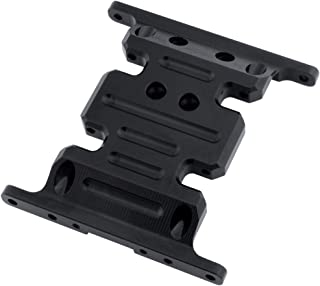 Hobbypark Aluminum Center Frame Brace Transmission Skid Plate for AXIAL SCX10 1/10 RC Rock Crawler Car Option Parts (Black)