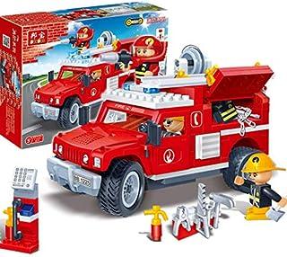 لعبة اللغز الطوب الأطفال لعبة سعيد حريق الإنقاذ سيارة طراز هامر