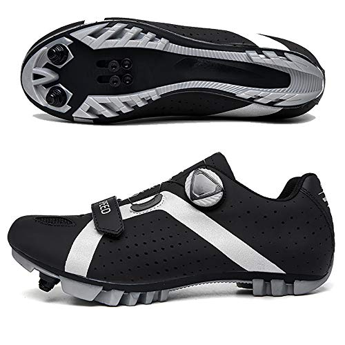 CHANGAN Elite SPD MTB Cycling Shoes for Men Women ideal for Mountain, Cyclo Cross Country XC bikes in Included Black-47