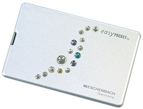 ESCHENBACH 携帯用ルーペ イージーポケット 倍率3倍 LEDライト付き ミルキーウェイ 1521-11S02