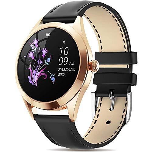 DOOK SmartWatch, 1.04'' Reloj Inteligente IP68 con Pantalla Táctil, Pulsera Actividad Inteligente Mujer para Deporte, Monitor De Actividades, Podómetro Notificación para iOS Android Gold