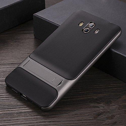 Funda® Firmness Smartphone Carcasa Case Cover Caso con Kickstand para Huawei Mate 10 Pro/Huawei Mate 10 Porsche(Gris)