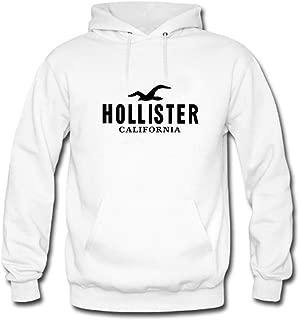 Hollister California Black Logo Printed For Mens Hoodies