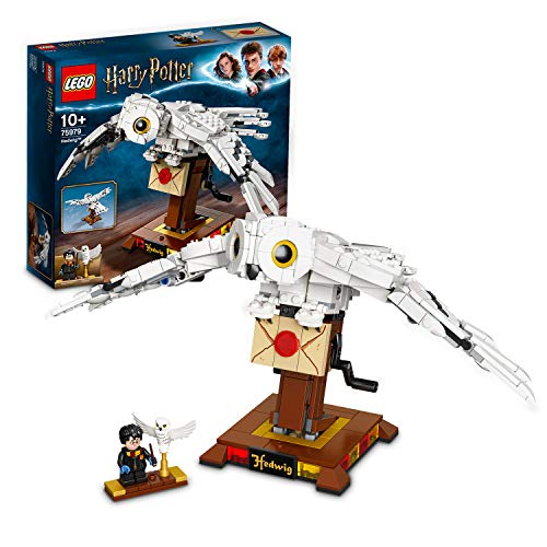 LEGO HarryPotterHedwigModelo de Exhibición Figura Coleccionable con Alas Móviles, Multicolor (75979)
