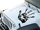 FGD Hand Print Skull Face Hood Decal Sticker Graphic 23.5'x24' (Hps2422) Universal Fits: Car Truck SUV (Black)