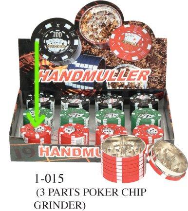 Ezshoponline 3 Teile Aluminium Poker Chip Polinator Kräutermühle