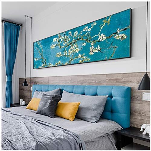 telo mare van gogh Quadri Moderni Famoso dipinto Mandorlo in fiore di Van Gogh Dipinti su tela Decorazioni per pareti per la casa Immagini di fiori per soggiorno Cuadros 23.6x62.9in (60x160cm) x1pcs Senza cornice
