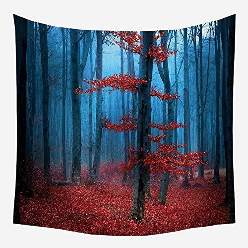 Tapiz de pared de naturaleza árbol bosque cielo estrellado tapiz de tela de pared psicodélico Mandala Tapiz tapiz de paisaje A6 180x200cm