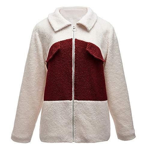 yanghuakeshangmaoyouxiangong Fuzzy-Jacke Für Frauen Im Herbst Und Winter Teddy Daunen Mantel Flauschige Strickjacke Mit Reißverschluss