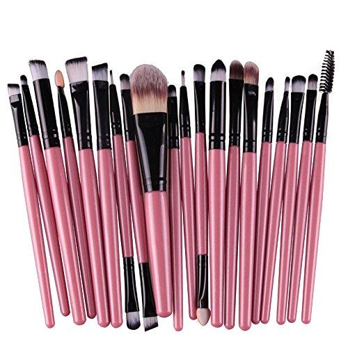 Wolfleague Pinceaux De Maquillage Set Premium Coloré Fondation MéLange Blush Yeux Visage Poudre Brosse CosméTiques Pinceaux Maquillages Professionnels Kit (A)
