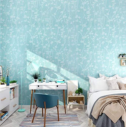 Wolpin Pegatinas de pared para el hogar con diseño de mariposas (45 x 600 cm), decoración de dormitorio de niños en relieve, autoadhesivo, color azul
