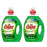 Le Chat L'Expert - Lessive Liquide - Lot de 2 x 2L - 80 Lavages