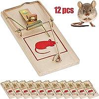 12STマウスマウス餌トラップの再利用可能な木材マウスホームガーデニングは、マウスキラー寄生虫のmousetraps用品