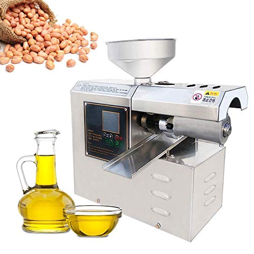 YJINGRUI Ölpresse Elektrischer Ölverteiler Heim oder gewerblicher Ölpresser für Erdnuss/Teesamen/Sesam/Sonnenblumenkerne (12-16 kg/Stunde)