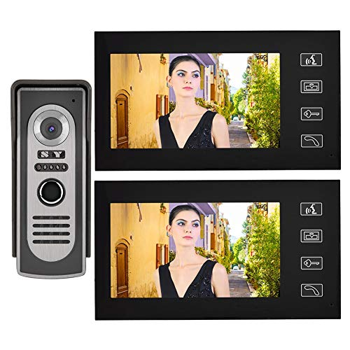 LXYPLM Videoportero Video Doorbell Video Doorbell 7 Pulgadas LCD Visual Intercom Puerta De Intercomunicación Bell Night Vision Home Smart Video Doorbell Kit Au Enchufe