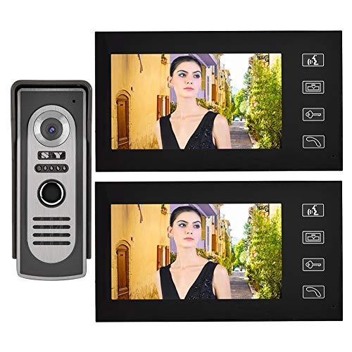 7 Inch LCD Wired Visual Intercom Door Bell Night Vision Home Smart Video Doorbell Kit