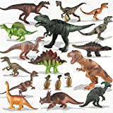 Kinder Spielzeug 20 Packungen Dinosaurier Spielset für Kleinkinder, Jungen Lernspielzeug, realistisch aussehend, 15,2 cm bis 25,4 cm, verschiedene dinosaurier figuren mit Dinosaurier-Baby-Eiern