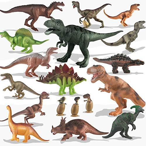 Kinder Spielzeug 20 Packungen Dinosaurier Spielset für Kleinkinder, Jungen Lernspielzeug, realistisch...