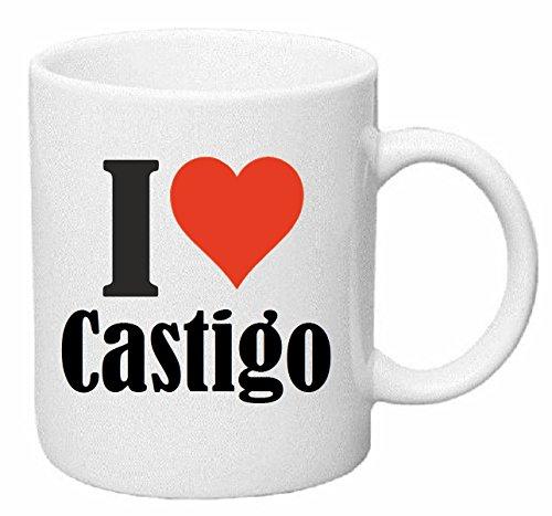 taza para café I Love Castigo Cerámica Altura 9.5 cm diámetro de 8 cm de Blanco