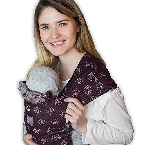 Love & Carry® Love Tie/Mei Tai Porta Bebè Marsupio Ergonomico Neonato a Fascia (Geo)