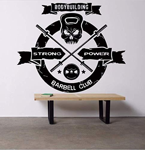 Wangyy Wandaufkleber Wandaufkleber Dekor Vinyl Aufkleber Wandtattoo Muskeln Power Workout Abnehmbare 58 X 48 Cm