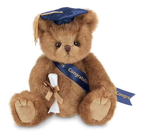 Bearington Smarty Class of 2021 Graduation Plush Stuffed Animal Teddy Bear in Blue Cap, 10 inches