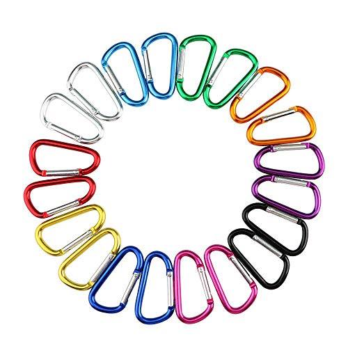Jsdoin 50 Stück große Karabiner D-Ring Clip Haken langlebig Schlüsselanhänger Camping Zubehör für Outdoor, Angeln, Wandern, Reisen