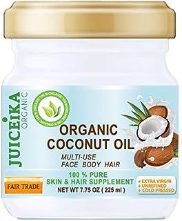 100% PURE ORGANIC COCONUT OIL. EXTRA VIRGIN/UNREFINED COLD PRESSED. 100% Pure Moisture. Skin & Hair Supplement. FAIR TRADE...