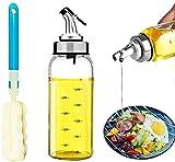DAYNEW Dispenser per Olio d'oliva e aceto - [Linea identificazione Scala] 300ml Bottiglie ...