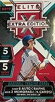 2019 Panini Elite Extra Edition Baseball (5 pks/bx; TWO Memorabilia & EIGHT Autograph cards/bx)