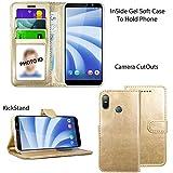 Blueenza purse case for HTC U12 life (6.0