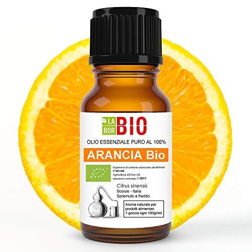 Arancia di Sicilia Bio Olio essenziale 100% Puro 10 ml - Uso Alimentare Interno Terapeutico Diffusori Aromaterapia Cosmetica Cucina - LaborBio