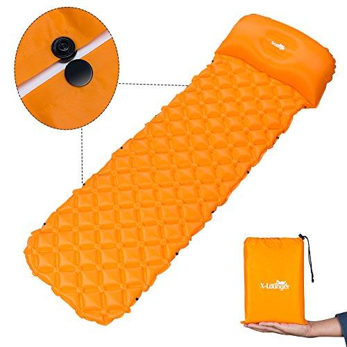 X-Lounger Ultraleichte Aufblasbare Isomatte, selbstaufblasbare Isomatte Camping Luftmatratze Camping Matratze Schlafmatte Campingmatratze aus TPU für Camping, Reise, Outdoor, Wandern, Strand