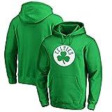 SPORTS Sudadera con Capucha Boston Celtics Kyrie Irving Camiseta De Manga Larga para Hombre Camiseta Estampada con Capucha Sudadera Cómoda Green-S