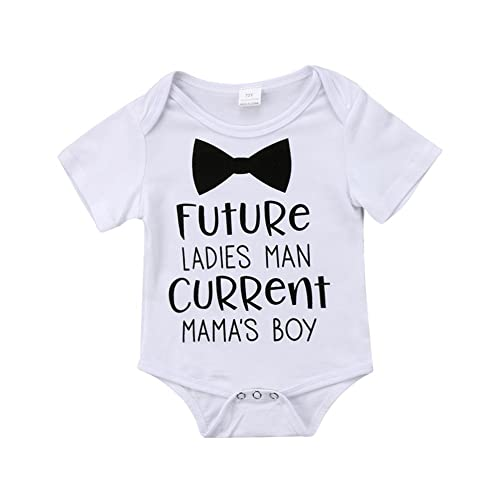 c5648fa7cc Enhill Funny Infant Newborn Baby Boy Short Sleeve Bodysuit Romper Outfit  Summer Clothes